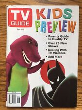 Canada TV Guide- 1993 Kids Preview Barney The Dinosaur Alberta Edition