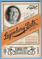 2012 Playoff Prime Cuts Legendary Bats George Brett Relic #/99 Materials Royals