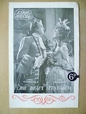 Lyric Theatre Programme- John Clements in THE BEAUX STRATAGEM by George Farquhar