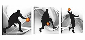Natural art – Basketball Sports Themed Canvas Wall Art for Boys Room Baby Nur...