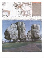 Christo Wrapped Trees Nr.III Riehen Poster Kunstdruck Bild 80x60cm