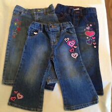 Size 18 mo Carters jeans Healthtex denim Faded Glory pants Lot of 3 blue girls