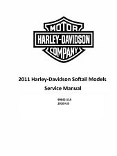 2011 Harley Softail Models Factory Service Shop Manual On CD