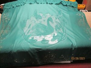 """Lace Like Shower Curtain with a Duck/swan Design (72"""" X 72"""")"""