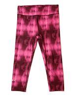 UNDER ARMOUR HEAT GEAR Women's Pink COMPRESSION Capri Crop Workout Yoga Sz S
