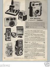 1960 PAPER AD Kodak Brownie Flash Camera Twin 20 Starmatic Yashicamet Revere