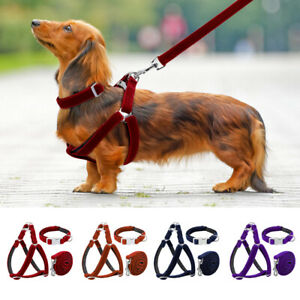 Reflective Step In Small Dog Harness & Collar & Leash set Puppy Strap Vest Lead