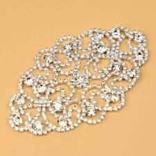DIY Silver Crystal Rhinestone Appliques Sewing Wedding Bridal Dress Belt Crafts