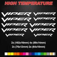 Compatible VIPER HI-TEMP PREMIUM BRAKE CALIPER DECALS STICKERS CAST VINYL DODGE