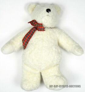"RARE VINTAGE POCKETS BEAR WHITE NORTH AMERICAN BEAR CO. INC NABCO #4059 1990 12"""