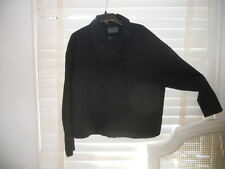 Oska Germany ~ Art to Wear ~ Black Wool Blend Boxy Dress Jacket ~ IV 4