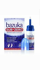 Bazuka Sub-Zero Home Use Freeze Treatment Verrucas & Warts Method Used By Doctor