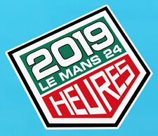 LE MANS 24 HOURS 2019 LARGE PAIR of stickers decals 350mm tall easy apply vinyl