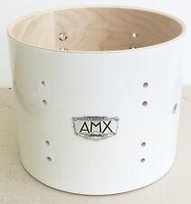"Ddrum AMX Ash/Maple Hybrid 10"" x 8"" Tom Drum, Shell White Finish (D Drum)"