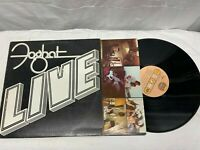 Foghat LIVE Vinyl LP 1977 Bearsville Records VG+ Free Shipping