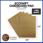 100 8.5x11 Corrugated Cardboard Pads Inserts Sheet 32 ECT 1/8' Thick 8 1/2 x 11