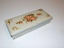 New listing Vintage Art Deco Cigarette / Trinket Box Dual Hinged Folding Metal Case