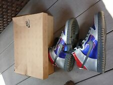 VINTAGE Nike Dunk HIGH CL 2009 METALLIC GREY 308319 001 YOUTH SIZE 7 RARE BOXED