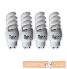GU10 9W Mini Spiral Light Bulb | 2700K Warm White | 230V | Pack of 4