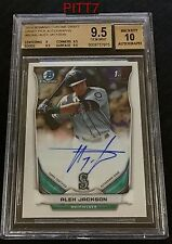 ALEX JACKSON RC AUTO 2014 BOWMAN CHROME DRAFT PICK BCA-AJ BGS GEM MINT 9.5/10