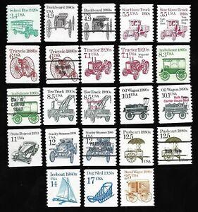 Mr B's US Transporation Series 1985 #2123 - 2136 plus varieties MNH - FREE SHIP