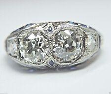 Antique Vintage European Diamond Engagement Ring Platinum Ring Size 7.75 EGL USA