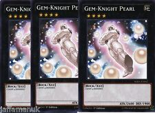 Playset 3 x Gem-Knight Pearl - WIRA-EN042 - Common  1st ED