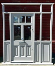 Hardwood Porch Door with sidelights and fanlight! Bespoke! Made to measure!