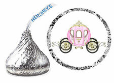216 PRINCESS CARRIAGE BIRTHDAY PARTY FAVORS HERSHEY KISS LABELS