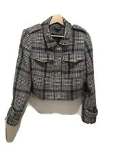CITY CHIC Cute Multicoloured Houndstooth Check Cropped Jacket Size XS / 14