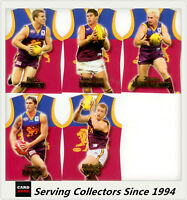 2006 Select AFL Champions AFL Jersey Die Cut Card Team Set Brisbane (5)