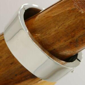 Vtg Massive Mexico Sterling Hinged Modernist Oval Bangle Bracelet 101 Gram TAXCO
