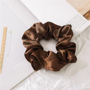 1PC Satin Silk Solid Color Hair Tie Elastic Scrunchie  Ponytail Holder Hair Rope