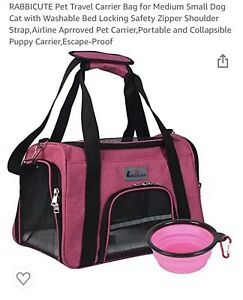 Pet Carrier Soft Sided, Cat/Sm Dog, Comfort Crimson Red Travel Bag FAA Approved