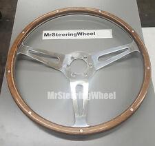 "MOTO-LITA Wood rim AC COBRA OEM 15"" - 6 BOLT CLASSIC REPLACEMENT STEERING WHEEL"