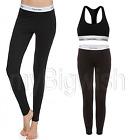 Ladies Calvin Klein Modal Cotton Stretch Pyjama Legging & Bustier Top Gym CK Set