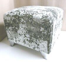 Quality Black Crushed Velvet Footstool 2ft X 3ft X 18inch High