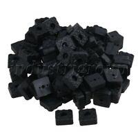 40PCS Snap Type Round Tubing Plug 8mm OD Plastic Black for Furniture Gliding Cap