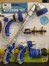 7 PC. Heavy Duty Watering Set by Members Mark Nozzles