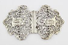 More details for fine victorian sterling silver nurses buckle london 1894 madonna & child
