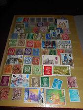 Album -Seite mit alten Briefmarken England Großbritannien