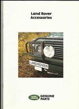Land Rover Accesorios folleto de ventas Plus los precios de junio de 1988