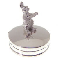 STERLING SILVER BUNNY RABBIT TOOTH FAIRY BOX. FULLY HALLMARKED & MADE IN ENGLAND
