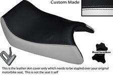 WHITE & BLACK CUSTOM FITS APRILIA AF1 125 88-91 SINTESI FRONT LEATHER SEAT COVER
