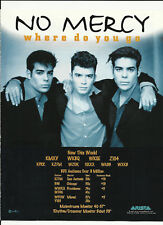 NO MERCY Where do you go Trade Ad POSTER for S/T CD 96