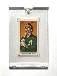 2020 TOPPS t206 SERIES 2 RICKEY HENDERSON 19/25 CYCLE BACK SP w/ HOLDER
