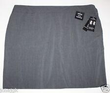 George NWT Women's 4X 26W 28W Gray Career Pencil Skirt w/ Slimming Tummy Panel