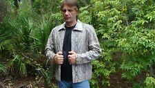 100% Python Snakeskin Leather Jacket Size-L MADE IN USA