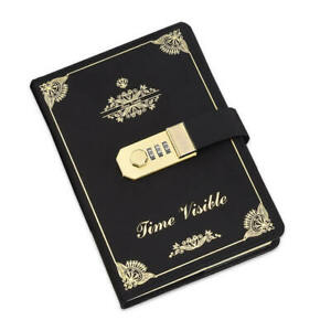 Ruled Paper Diary with Combination Lock for Child 260 Pages, Faux Leather Cover