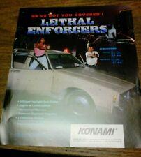 Konami LETHAL ENFORCERS Arcade Video Game flyer - original